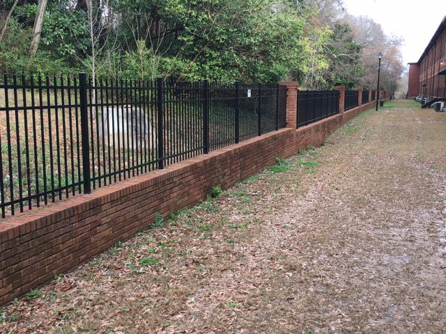 Residential metal fences ga fence company natural