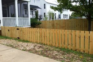 picket fence unstained wood